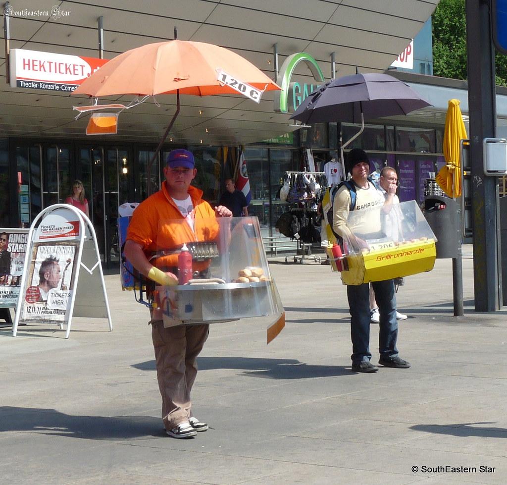 fancy a hot dog hotdog sellers at alexanderplatz berlin flickr. Black Bedroom Furniture Sets. Home Design Ideas