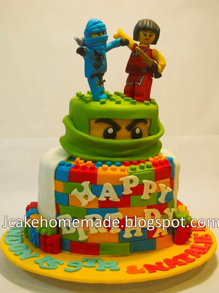 Ninjago Themed Birthday Cakes
