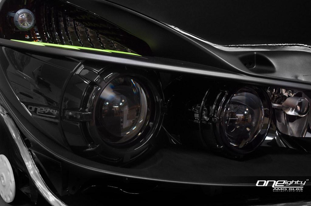 Mercedes benz sl63 amg custom headlights another for Mercedes benz aftermarket headlights