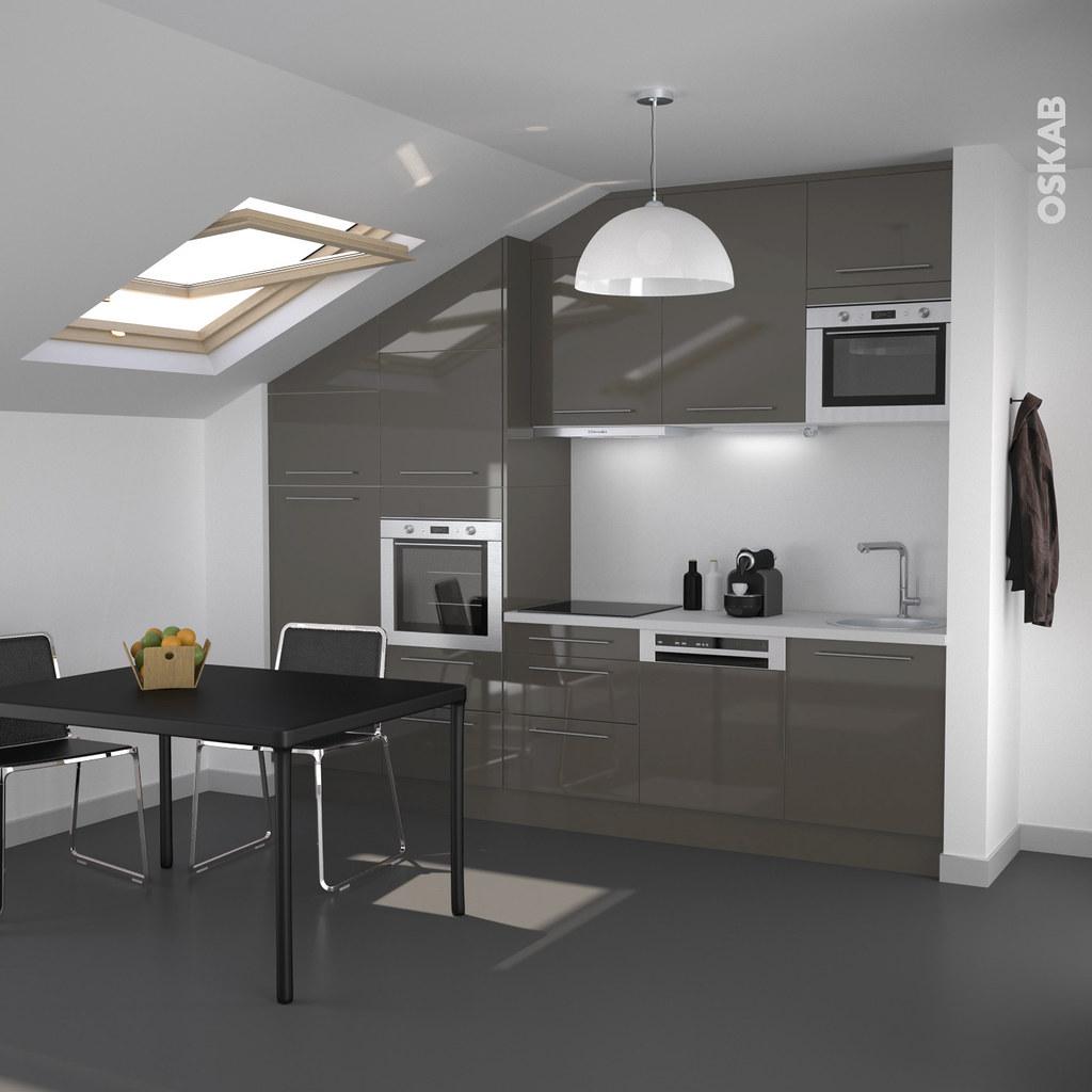 petite cuisine ouverte taupe design et masculine oskab flickr. Black Bedroom Furniture Sets. Home Design Ideas
