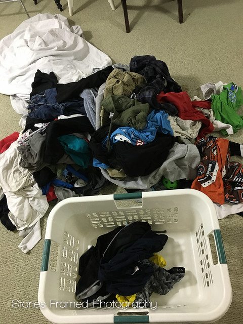 345. | clean and crumpled laundry.