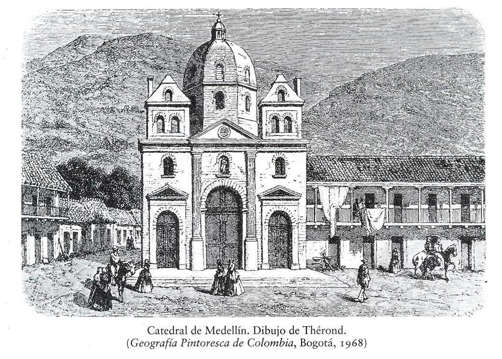 Catedral de Medelln Dibujo de Thrond 1968  Universidad EAFIT