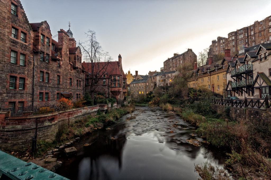 Dean Village Sunrise. The Water of Leith, Edinburgh | Flickr Longexposure