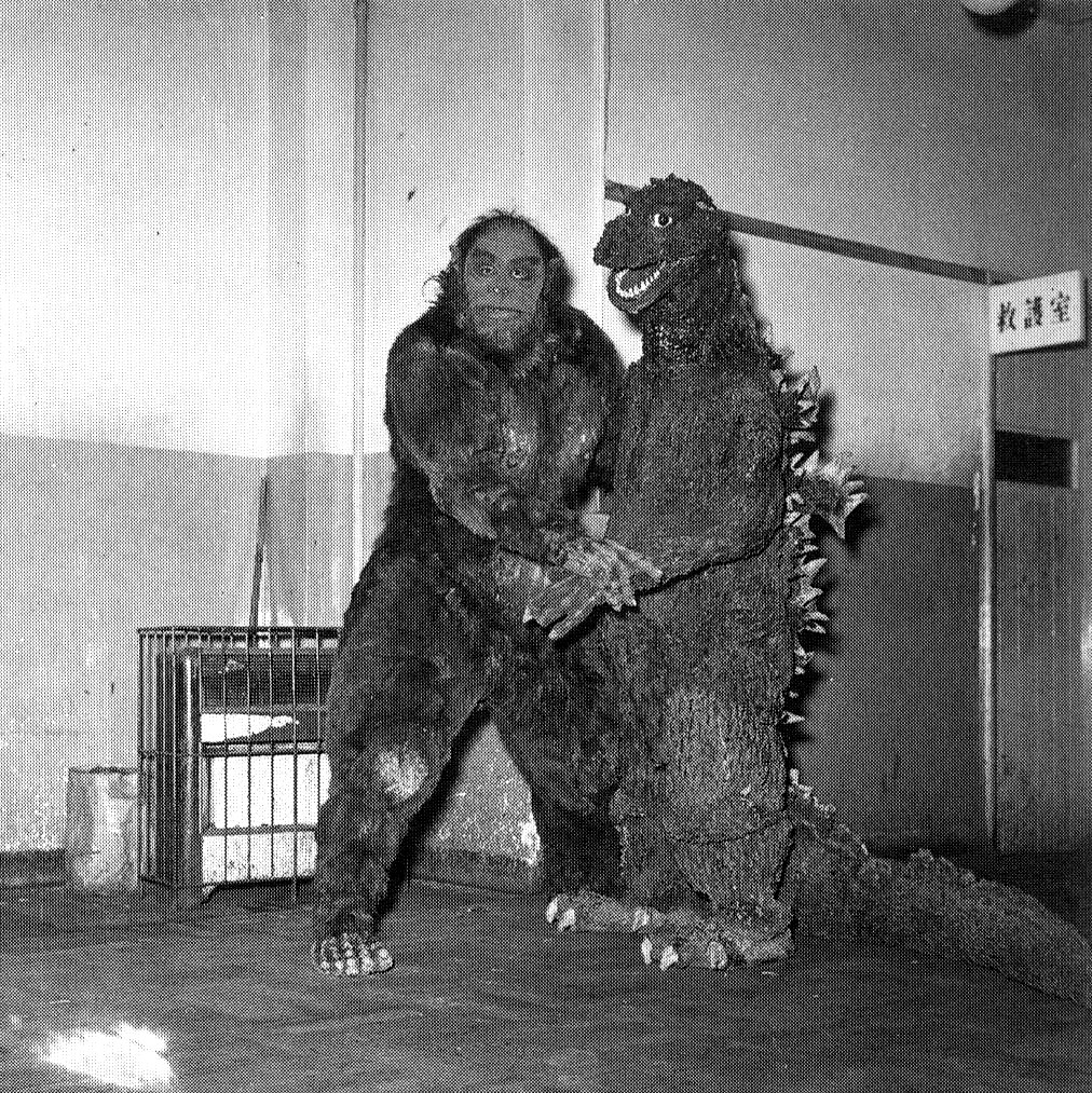 Godzilla dancing with the Snowman from Half Human | Via Blac… | Tom ...