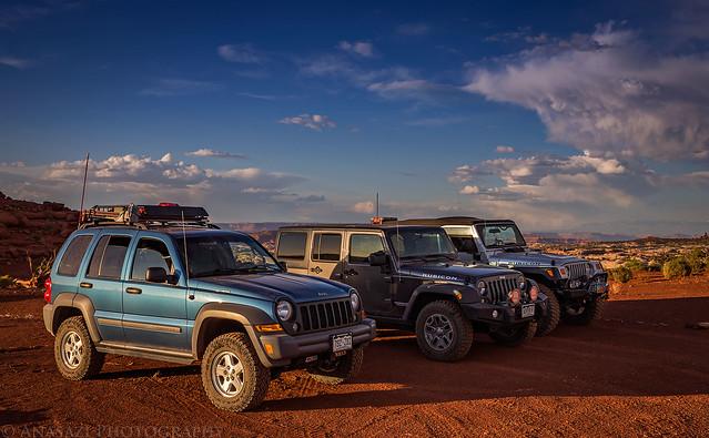 Three Jeeps