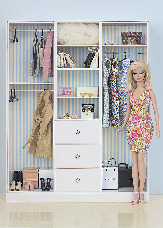 Barbie ropa y accesorios armario de barbie y3354 - Como hacer un armario de carton ...