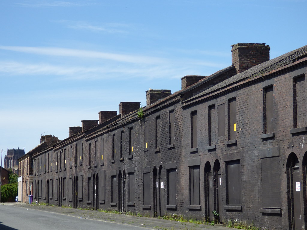 Eerie And Derelict Powis Street In Toxteth No Cars No So