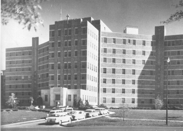 St mary hospital 101 memorial drive kansas city mo 1965 flickr photo sharing for Garden city ks movies