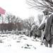 Korean War Memorial in snow