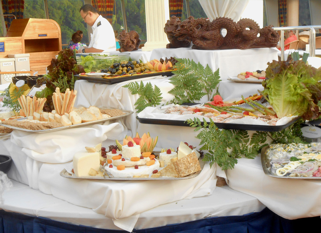 Ryndam French Buffet Display Early One Evening There