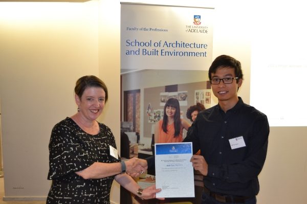 2015 Winner: Minh Tuan Nguyen - Presented by Nicolette Di Lernia (AIA-SA Chapter Manager)
