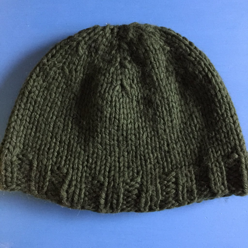 green big wool beanie