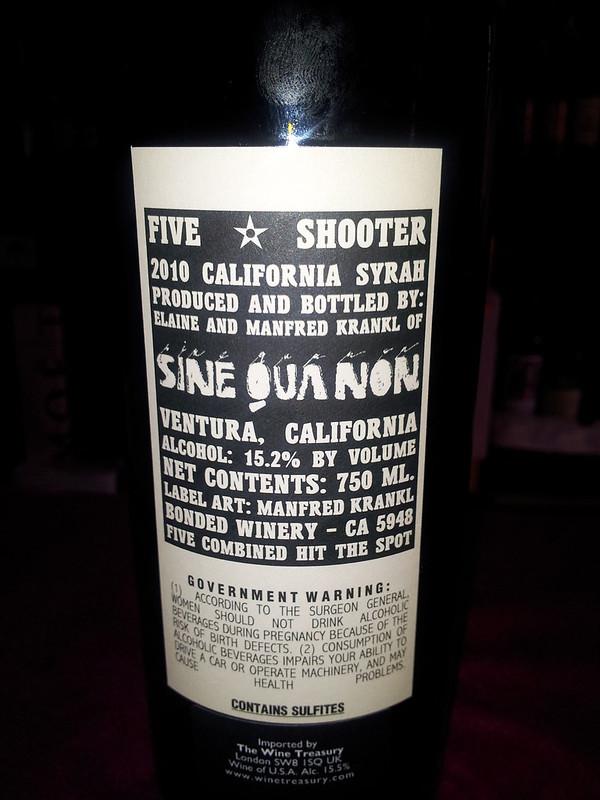 sine qua non wine