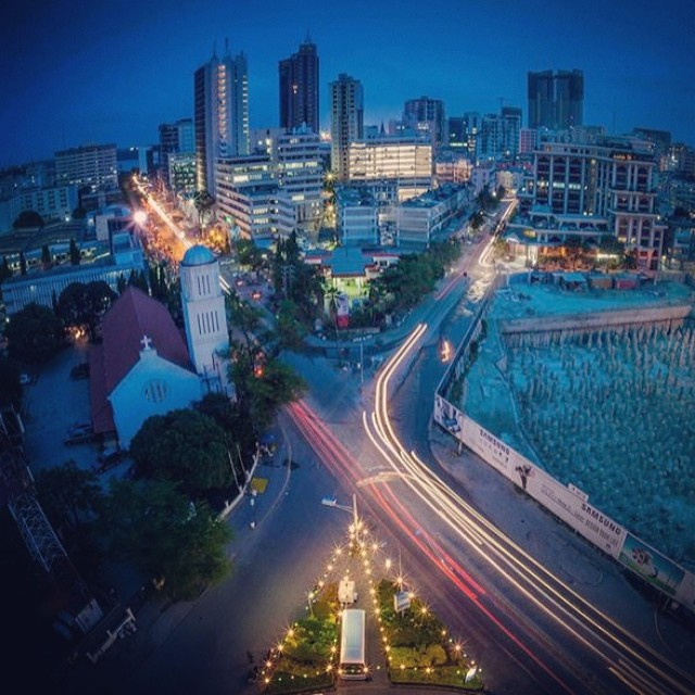 Dar Es Salaam By Night- Got To Love Those City Lights! #af