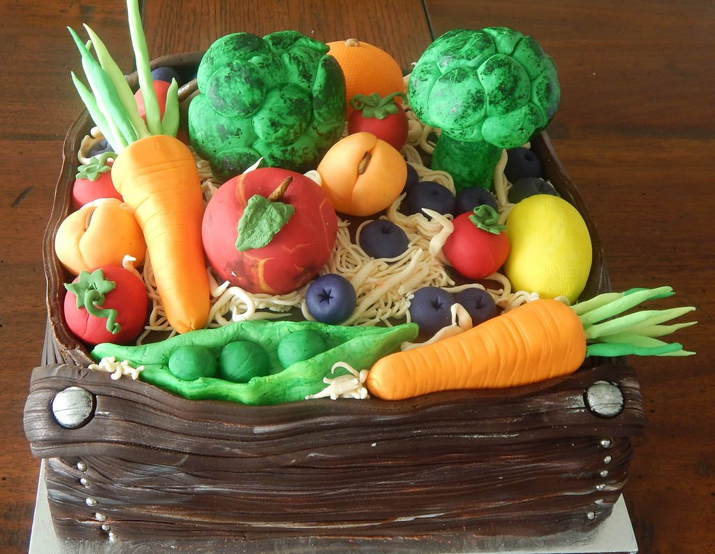 Birthday Cake Made Of All Fruit