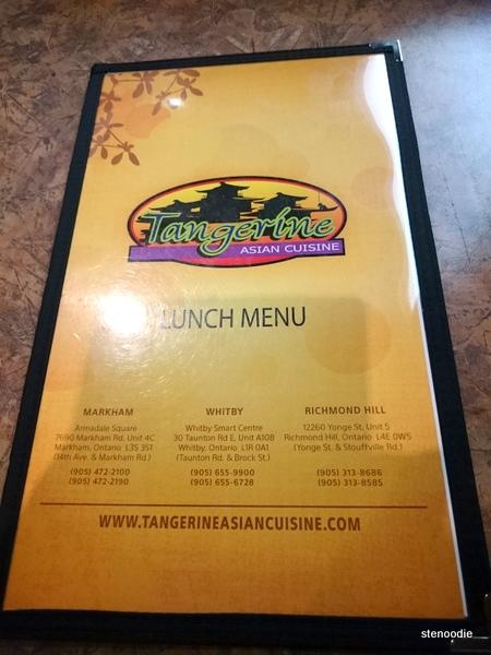 Tangerine Asian Cuisine lunch menu