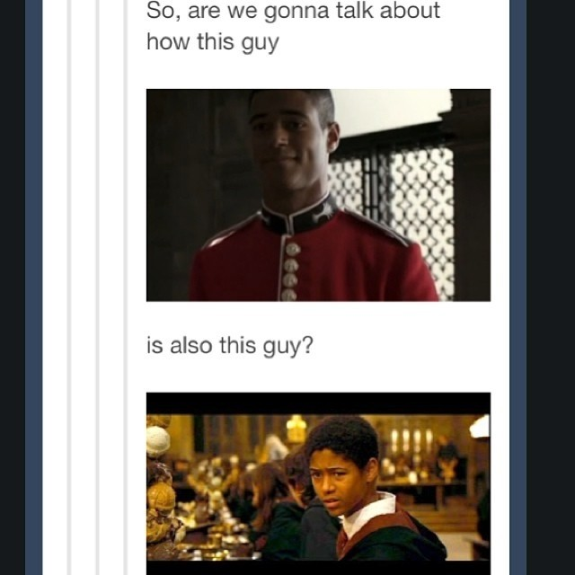 Love Dean Thomas! Did anyone else realise that Alfred Enoc ... Alfred Enoch Sherlock