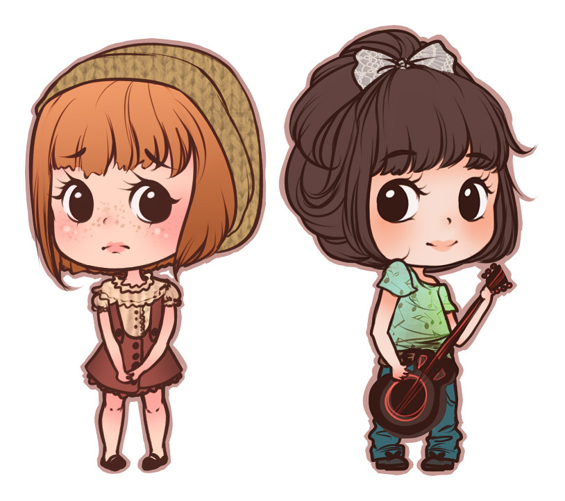Two custom cute drawings from last night. I love drawing t ...