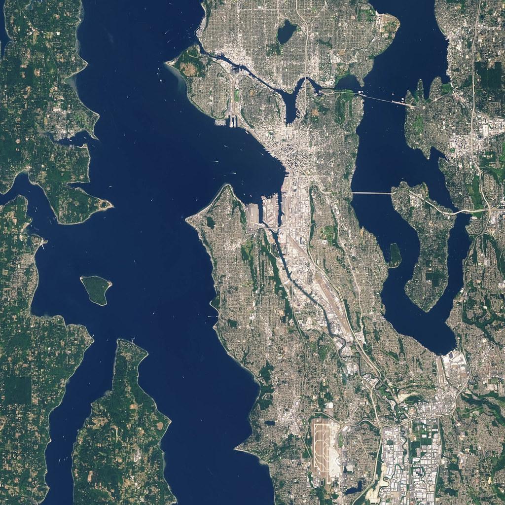 NASA Satellite Captures Super Bowl Cities Seattle Flickr