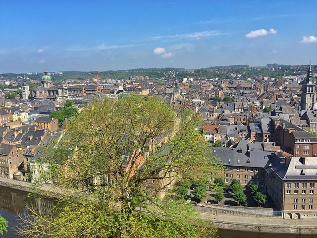 Namur visto desde la ciudadela