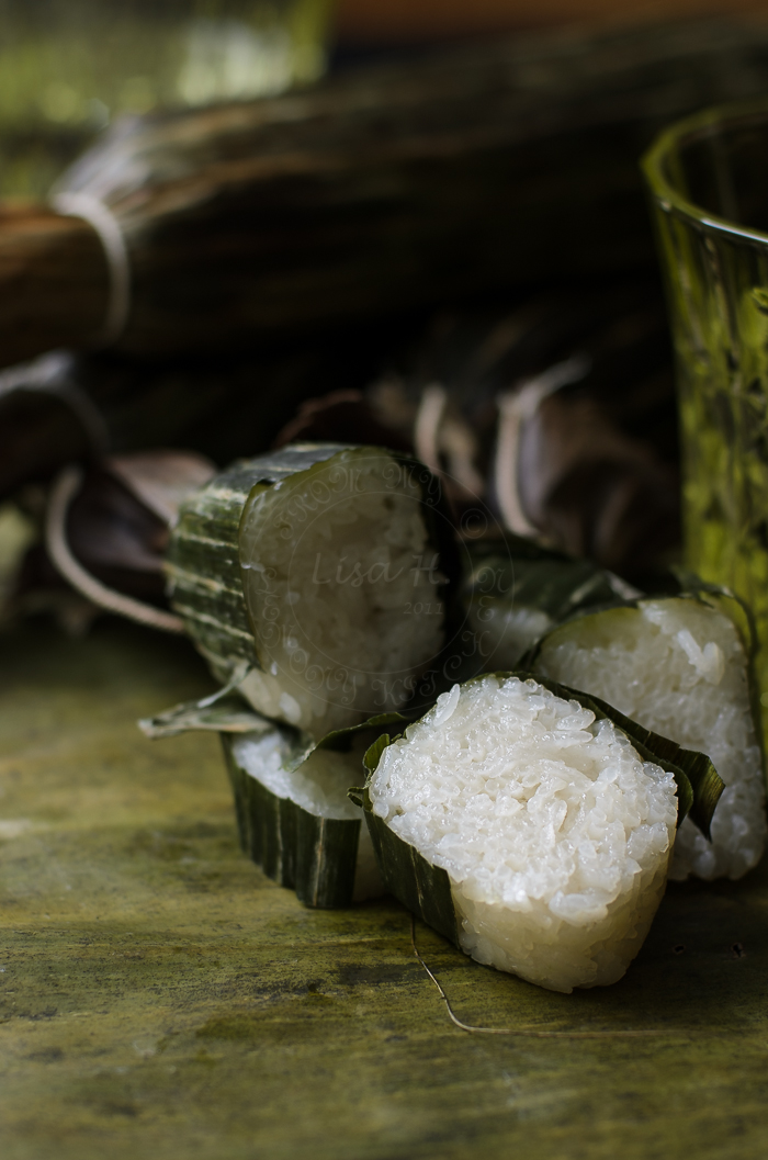 Cheat Lemang or glutinous rice roll
