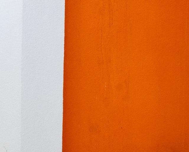 orange and white wall