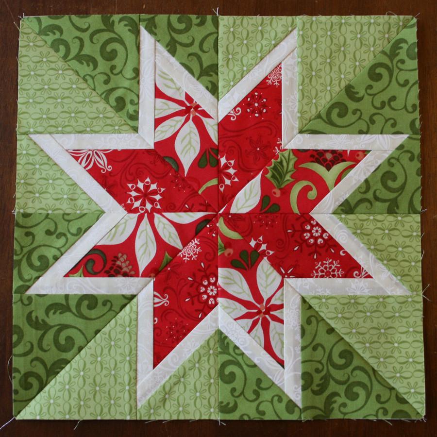 Christmas Star Block | jennymakesstuff.blogspot.com/2013 ...
