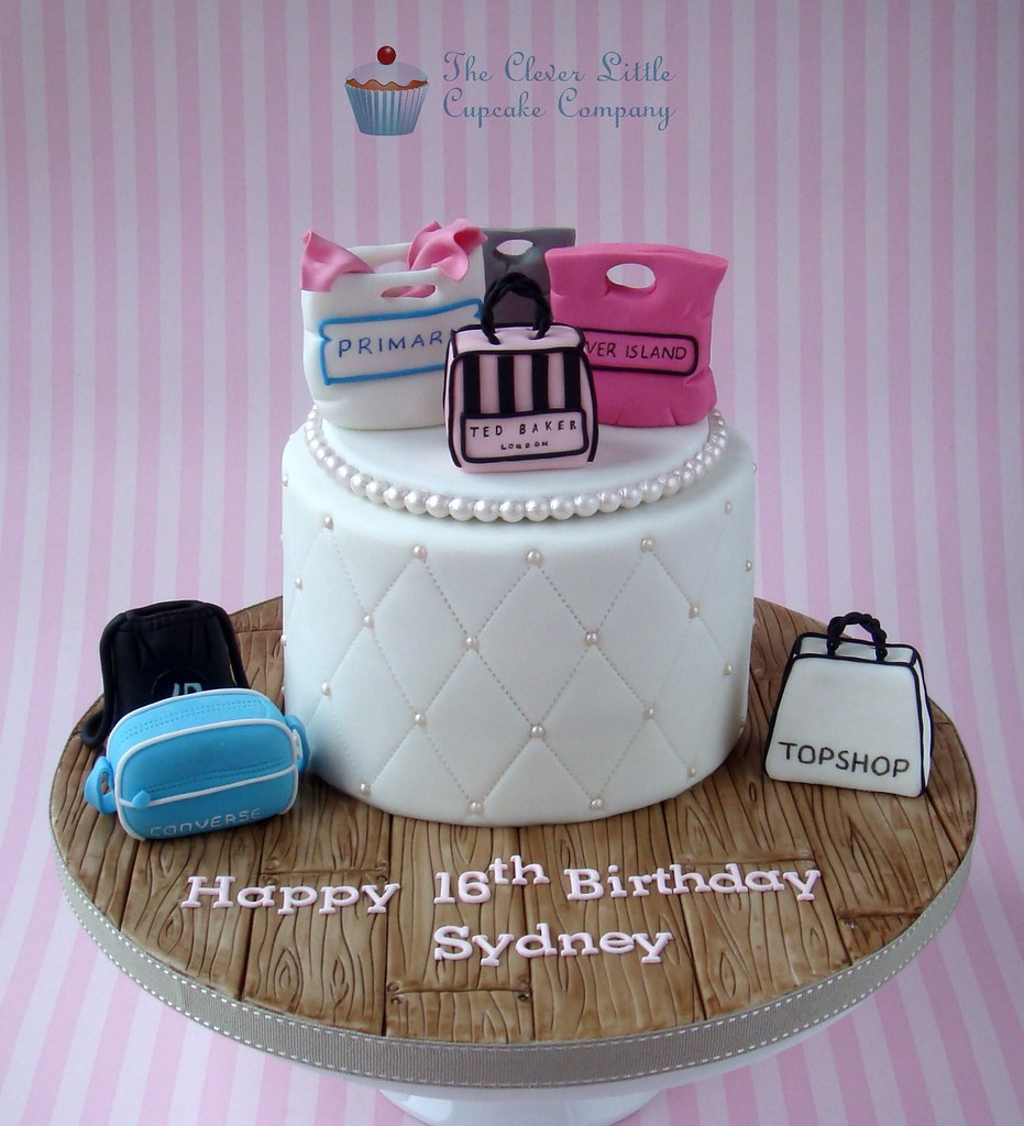 Shopaholic Birthday Cake Selection Of Different High