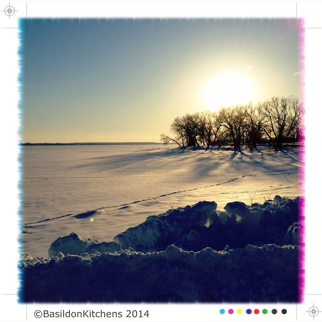 12/2/2014 - out & about {a detour on the way home tonight. Zwicks Park in the Bay of Quinte} #fmsphotoaday #bayofquinte #winter #ice #snow #frozen #sunset #zwickspark #belleville #princeedwardcounty