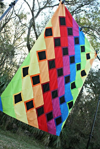 Rainbow Dance Party quilt top - the artsy view