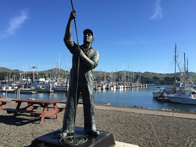 Fisherman statue, Bodega Harbor