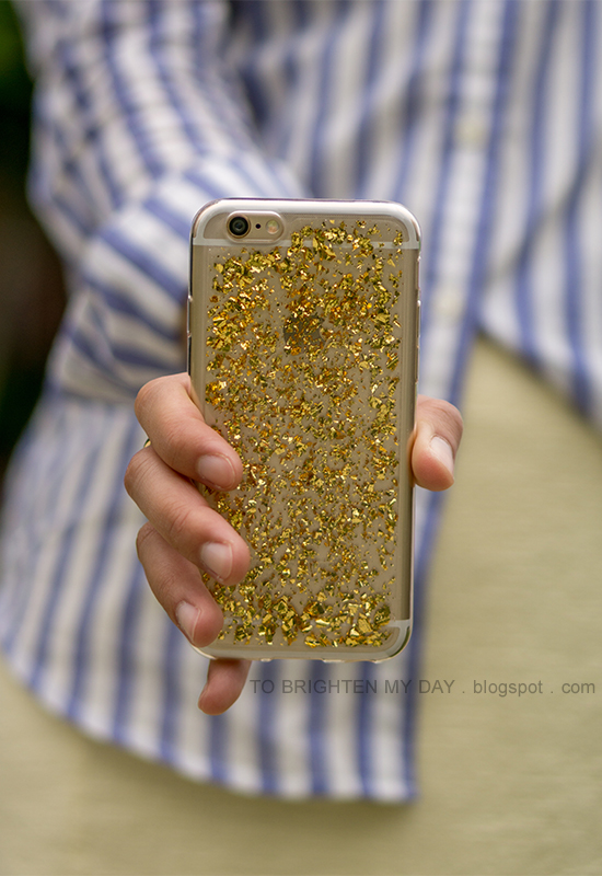 H&M glitter phone case