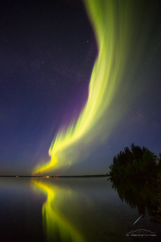 Aurora Curtain over Saskatchewan