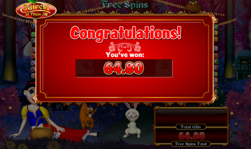 free Fairest of Them All Free Spins Win