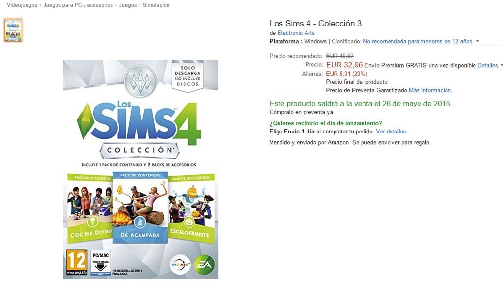 Los Sims 4 Colección 3 en Amazon España