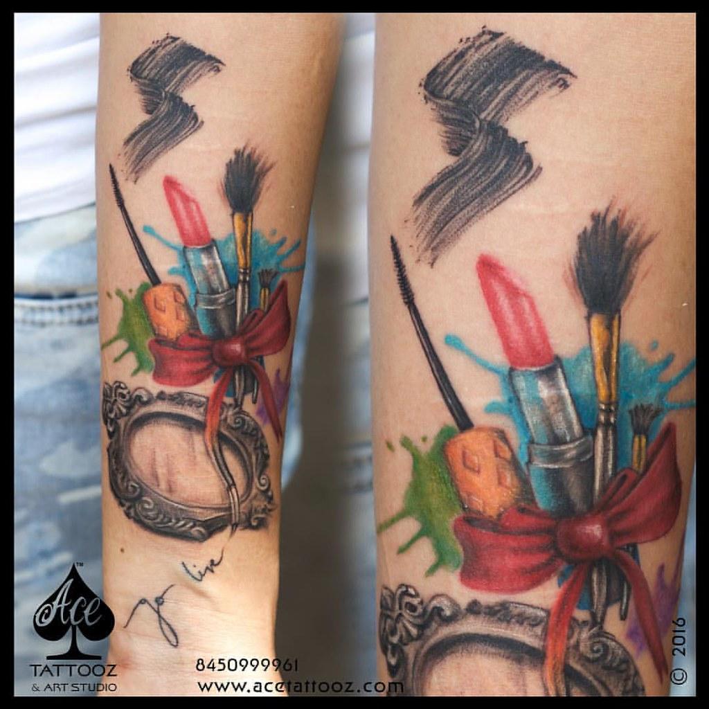 Makeup artist tattoo