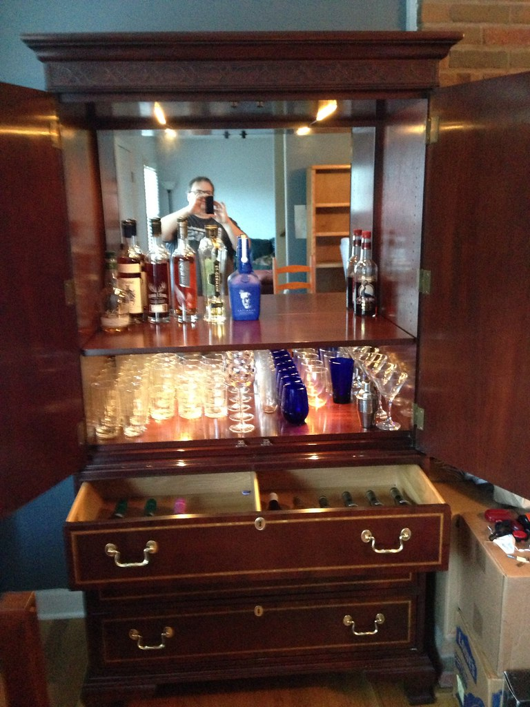 Turned an old TV armoire into a liquor cabinet | Kenneth Rogers ...