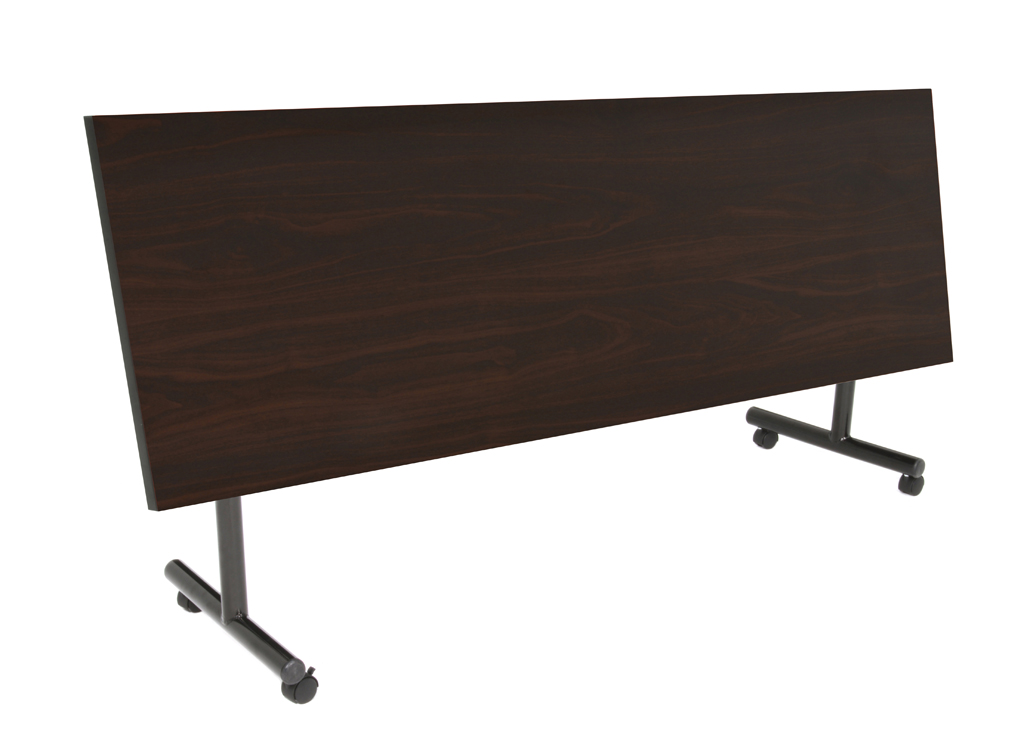 mkft8424mw flip 84 flip top training table in mocha