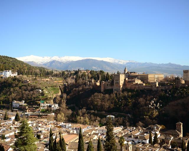 Vistas de la Alhambra desde el mirador de San Nicolas, de las mejores cosas que ver en Granada sin lugar a dudas
