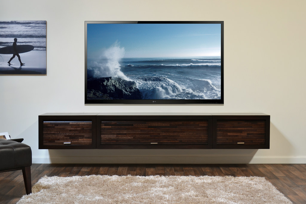 wall mount tv stand eco geo entertainment center espresso. Black Bedroom Furniture Sets. Home Design Ideas