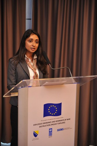 Zahira Virani, UNDP Deputy Resident Representative at the launch of the EXPLODE project | by United Nations BiH