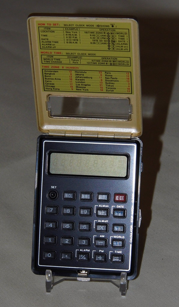 vintage sharp electronic lcd calculator  model ct