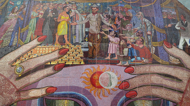 Mural de diego rivera a cantinflas flickr photo sharing for Mural de rivera
