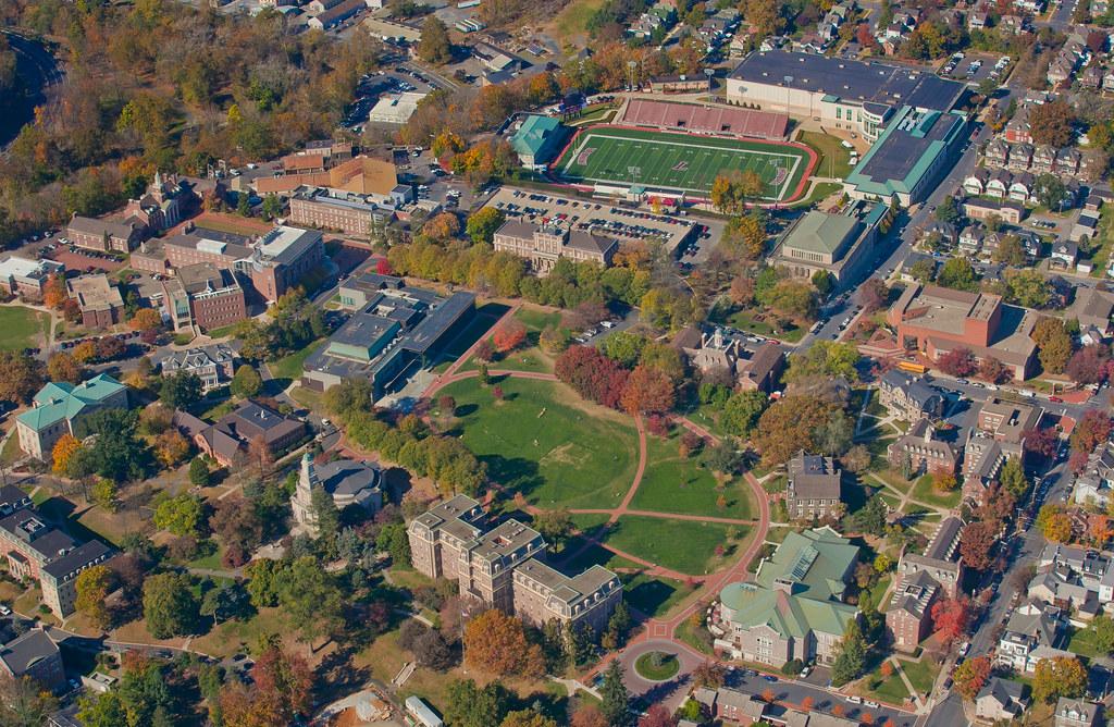 Aerial Lafayette College And Stadium Major Campus