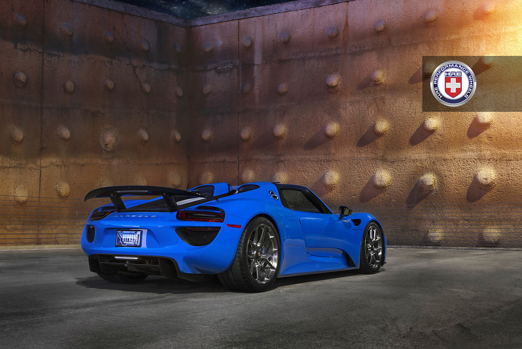 hre wheels voodoo blue porsche 918 spyder with hre p101 wheels rennlist porsche discussion. Black Bedroom Furniture Sets. Home Design Ideas