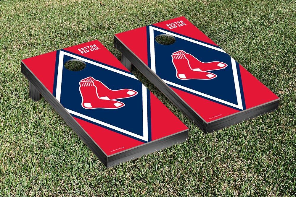 Boston Red Sox Diamond Version Cornhole Board