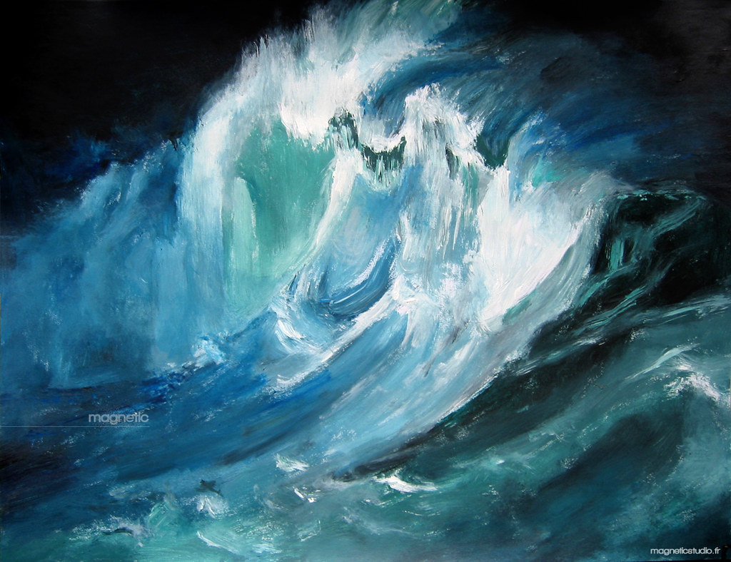 Painting Waves In Acrylic