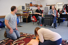Fotogalerie na Flickru - Kurz první pomoci, 1. lekce - resuscitace, 10. 2. 2014