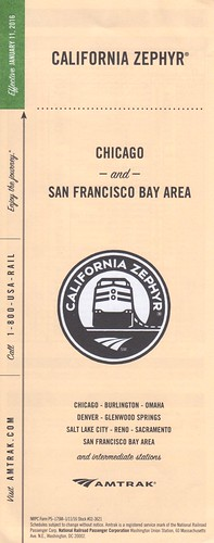 Amtrak California Zephyr 2016 Cover