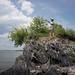 Beth Pointing at Lake Champlain